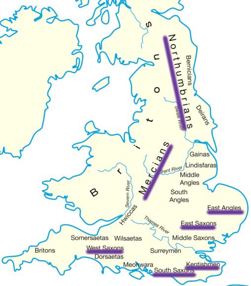 Map Of England Northumbria.Etrusia Saxons A Saxon Timeline