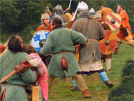 Festival of History Re-enactors simulate a Saxon Battle