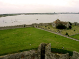 Portchester - Roman Fort on the Saxon Shore - View out to sea