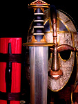 Sutton Hoo - Helmet and Sword From Saxon Grave